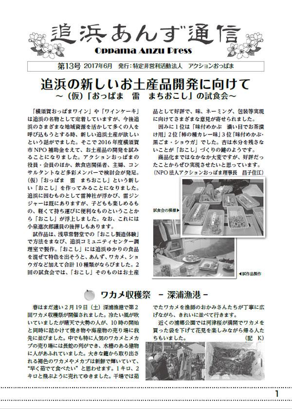 追浜あんず通信 No.13 2017.6