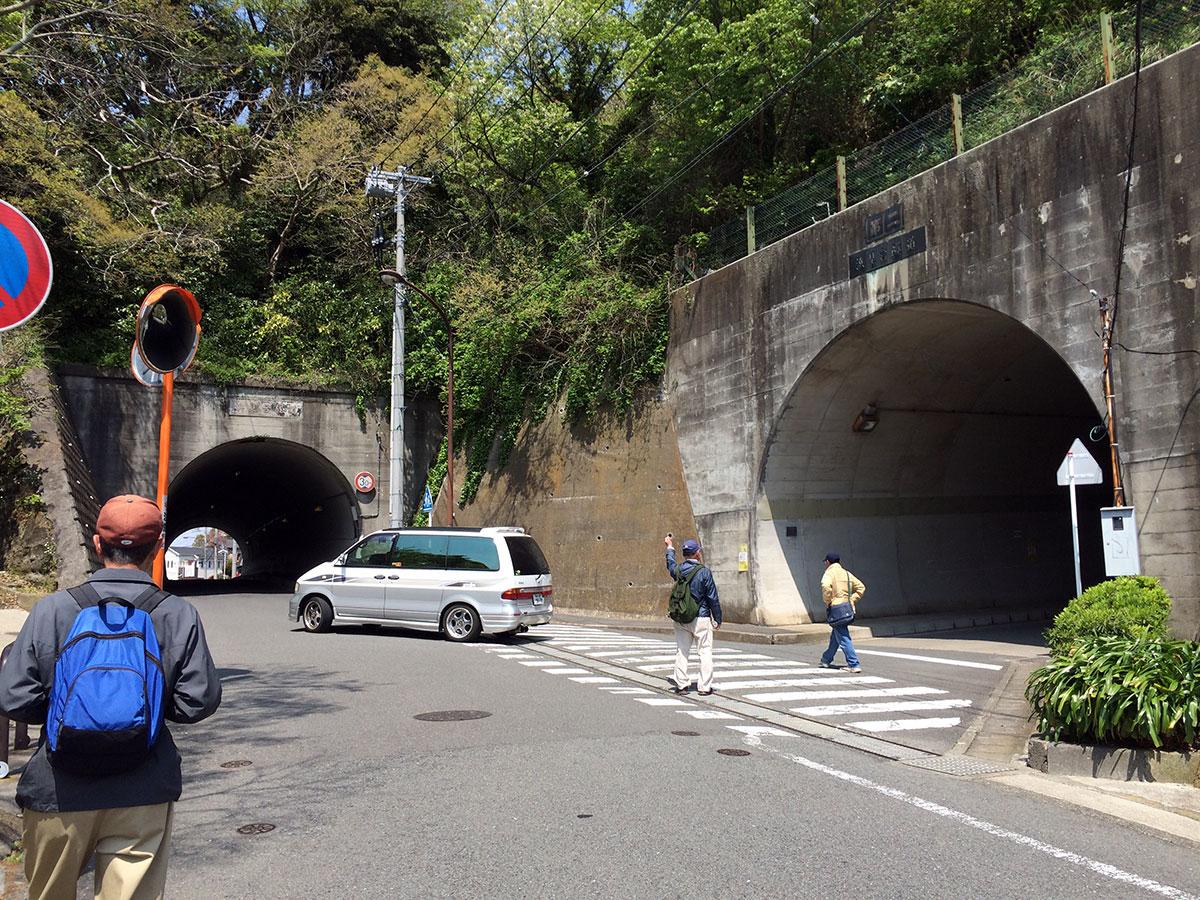 左:浜見台隧道 右:浜見台第二隧道